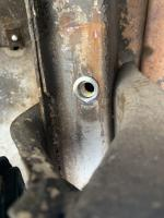 Rear frame bumper Riv nut
