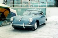 Porsche 356 at the Beach (Vintage Photo)