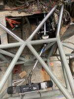 Baja bug steering and pedal assembly