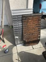 Frame and pan work