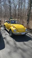 75 yellow super beetle convertible