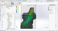 911 style fanshroud flow simulation