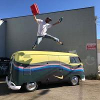 1961 double door panel Nike bus