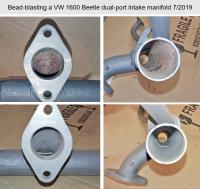 Bead blasting Type 1 dual port intake manifold