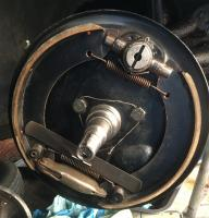 FRont cable brake.