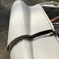 Body work: Cutting out overlap from old fender repair