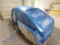 67 Fastback in the paint booth
