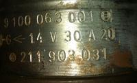 1968 Euro Beetle 211903031 generator