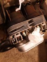 Bent Engine rod tubes and broken header fin