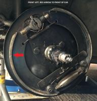 Front LH cable brake.