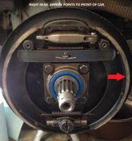 Rear RH cable brake.