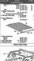 Floor pan extensions