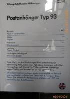 VW Postanhänger Typ 93 from 1945