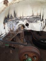 Rear wheel well