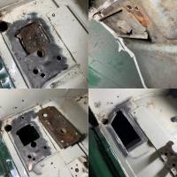 1971 Bay window seat belt mounts rust repair