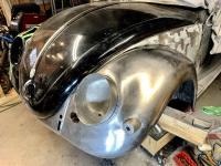 re-installing the headlight bucket