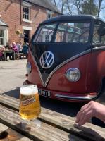 Barndoor in the beer garden