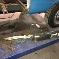'78 mid section rust removed