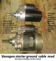 proper Vanagon starter ground
