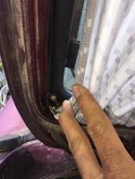 Hatch curtain rod screw hole