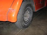 Rear tire.