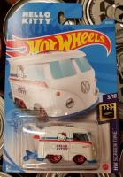 Hot Wheels Hello Kitty shorty bus toy