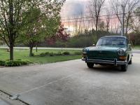 Joann 1970 Elm Green Squareback in spring