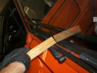 Passenger wiper rod to glass three eight inches