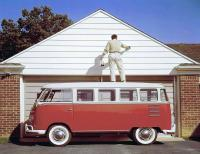 Painter on a 15-window Deluxe VW Bus