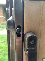 Slider door half locked