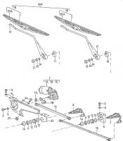 Windshield wiper components diagrams