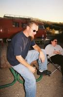 Wade posing for the camera at BBB 2005.