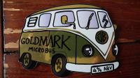 Bus on beer pump sign