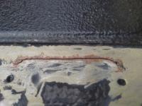 Gate hinge cracks