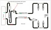 D-jet fuel system diagrams type 3 and 4 with 2 and 3 port pump