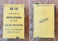 Old Bosch generator brushes box