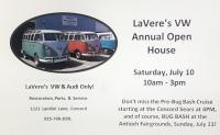 LaVere's VW Restoration Annual Open House, July 10