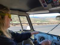 """Some """"From the Window"""" photos in our 1967 Westfalia... trip to Seatlle and back"""