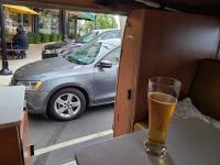 Enjoying Beer at Woody's Brewing Company (Redding, CA) in our Westfalia