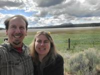 """On the road selfie - Dadacheese & Kathy at """"Grass Lake"""""""