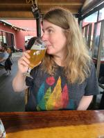 Beer tasting in Bend, OR at Monkless Belgian Ales