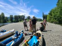 River paddling trip with my brother, sister-in-law and friends during our Seattle trip