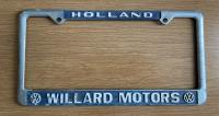 Willard motors - Holland Michigan dealer plate frame