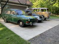 1964 beetle sunroof, 1972 westfalia tin top and 1970 Squareback