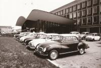 DKW and VWs parking lot 1956
