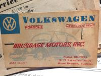 Vw bug 1954 oval 3 fold Ragtop