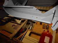 Rear corner removal and sandblasting