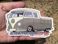 Slammed VW double cab sticker