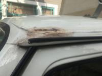 Rust under luggage rack