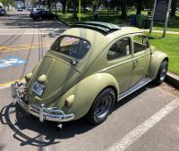 Diamond Racing wheels finally on Doug the '60 Bug